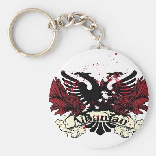 albanian eagle basic round button key ring