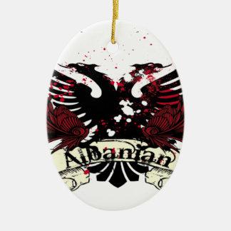 albanian eagle ceramic oval decoration