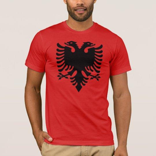 Albanian Eagle grey pixel T-Shirt