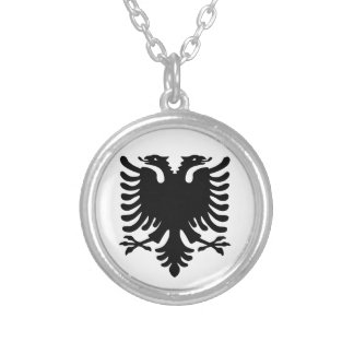 Albanian Eagle. Silver Plated Necklace