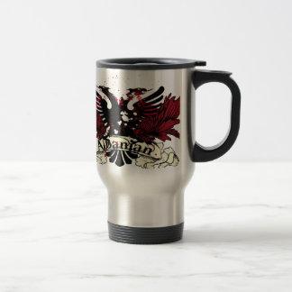 albanian eagle travel mug