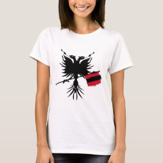 Albanian Eagle with Flag - Ladies Spaghetti Top