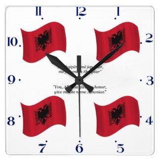 Albanian Flag and Motto Clock
