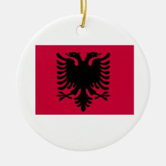 Albanian Flag Christmas Ornament