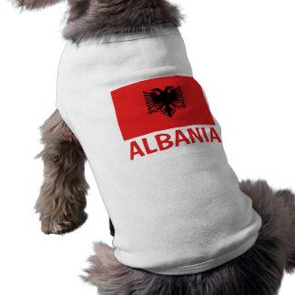 Albanian Flag Customizable Red Text Shirt