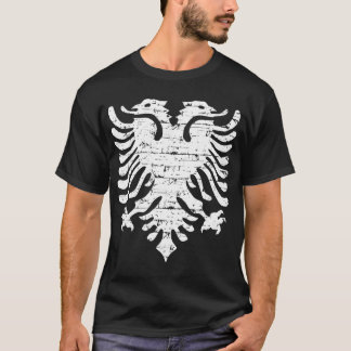 Albanian flag distressed design T-Shirt