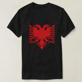 Albanian Flag Double Headed Eagle In Red T-Shirt