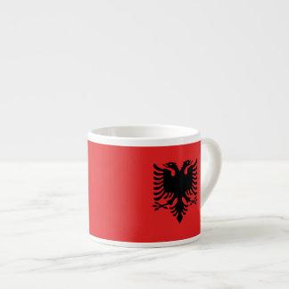 Albanian flag espresso cup