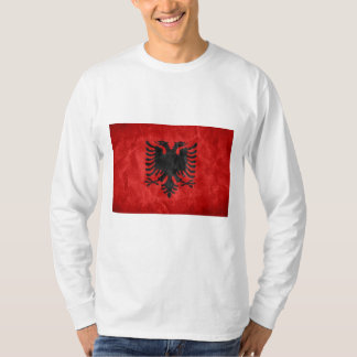 Albanian Flag Graphic Long Sleeved T-Shirt