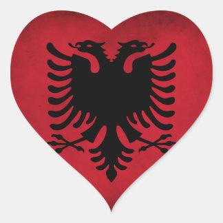 albanian flag heart heart sticker