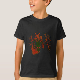 Albanian Flag in Real heart T-Shirt