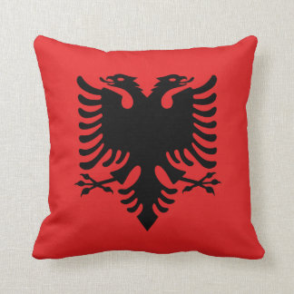 Albanian flag pillow
