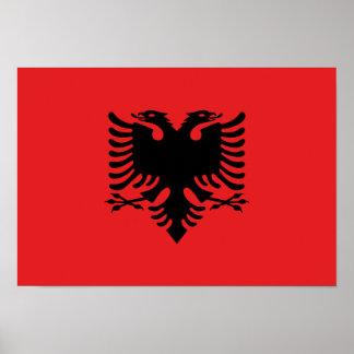 Albanian Flag Poster