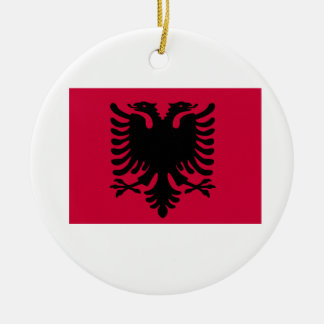 Albanian Flag Round Ceramic Decoration