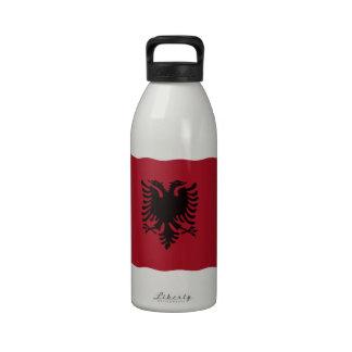 Albanian flag water bottles