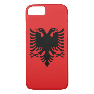 Albanian flag with two-headed eagle iPhone 7 case