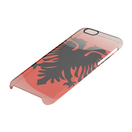 Albanian glossy flag clear iPhone 6/6S case