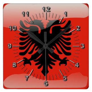 Albanian glossy flag clocks