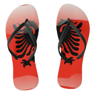 Albanian glossy flag flip flops