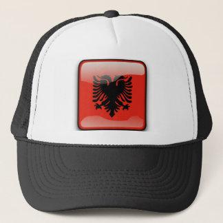 Albanian glossy flag trucker hat