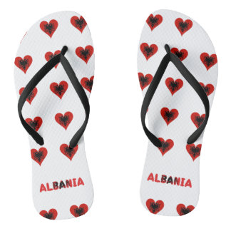 Albanian hearts flip flops