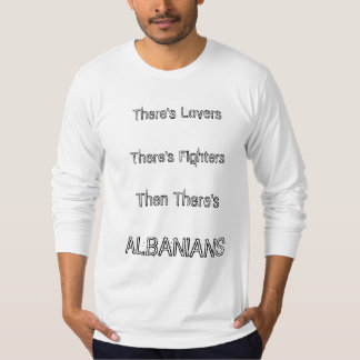 Albanian lovers and fighters tee shirts