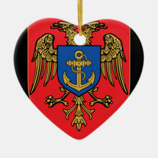 Albanian Naval Forces - Forcat Detare Ceramic Heart Decoration
