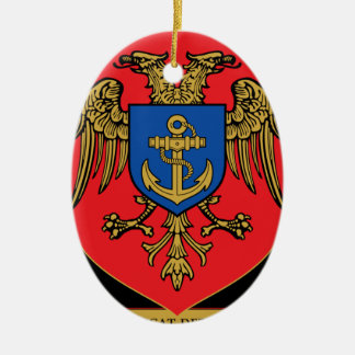 Albanian Naval Forces - Forcat Detare Ceramic Oval Decoration