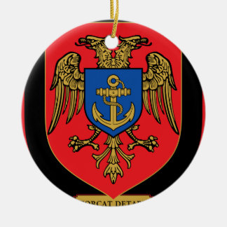 Albanian Naval Forces - Forcat Detare Round Ceramic Decoration