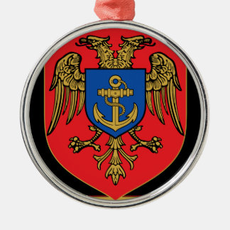 Albanian Naval Forces - Forcat Detare Silver-Colored Round Decoration