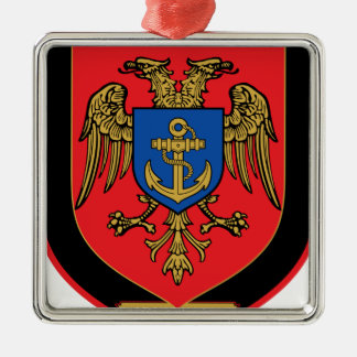 Albanian Naval Forces - Forcat Detare Silver-Colored Square Decoration