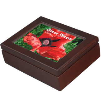 Albanian Red Poppy Memory Boxes