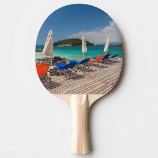 Albanian Riviera, Ksamil, town beachfront Ping Pong Paddle