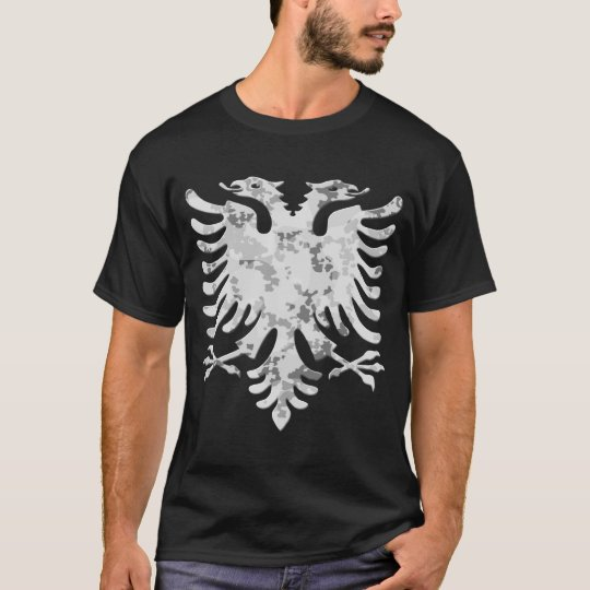 Albanian Snow Camo Eagle 3D T-Shirt