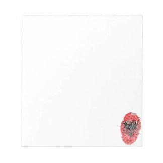Albanian touch fingerprint flag notepad