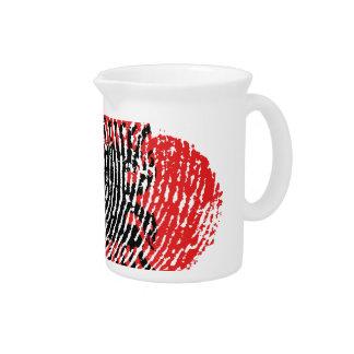 Albanian touch fingerprint flag pitcher