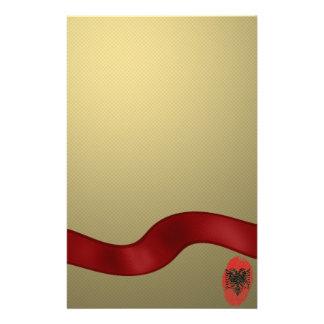 Albanian touch fingerprint flag stationery