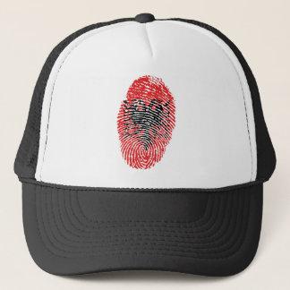 Albanian touch fingerprint flag trucker hat