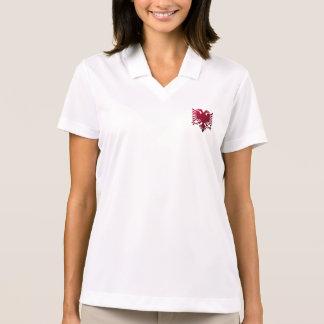 Albanian two-headed eagle polo shirt