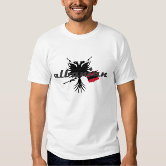 Albanian with Eagle and flag T Shirts