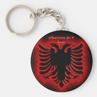 albanianeagle, albanians do it best key ring