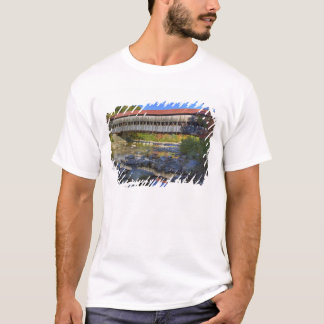 Albany covered bridge over Swift River, White T-Shirt