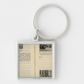Albany Garage, Albany Silver-Colored Square Key Ring