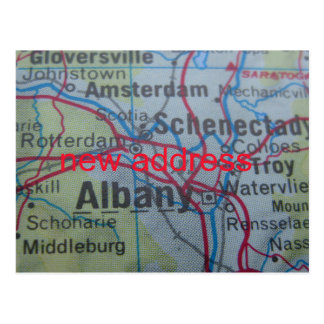 Albany New Address announcement Postcard