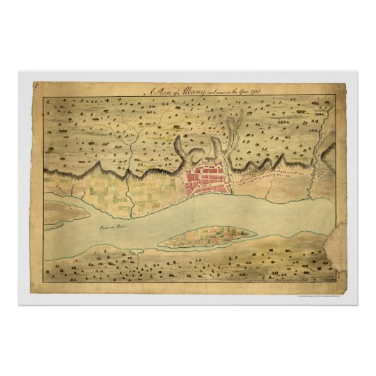 Albany New York Early Map 1758 Poster