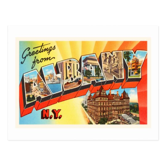 Albany New York NY Old Vintage Travel Souvenir