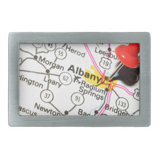 Albany, New York Rectangular Belt Buckle