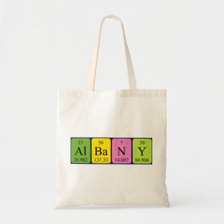 Albany periodic table name tote bag