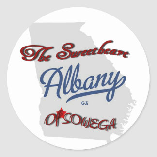 Albany The Sweetheart of SOWEGA Round Sticker