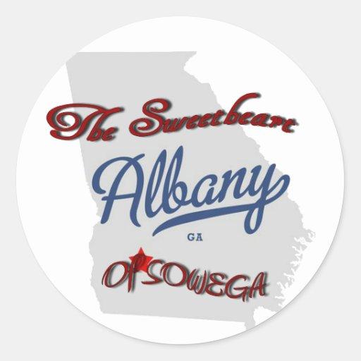 Albany ~ The Sweetheart of SOWEGA Round Sticker
